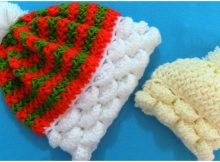 Colorful 3D Beanie Hat Marshmallow Stitch