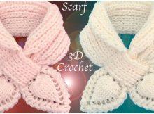 3D Leaves Scarf Elastic Stitch