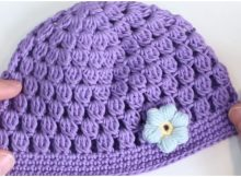 Crochet Beanie Hat Bobble Stitch