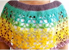 Crochet Beautiful Cape With Flowers