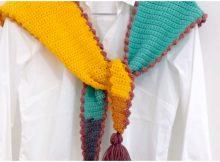 Crochet Irregular Scarf