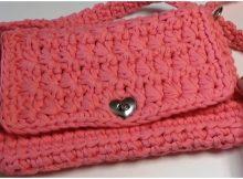 Handbag With Jersey Granite Stitch
