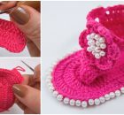 Baby Sandals With Pearls