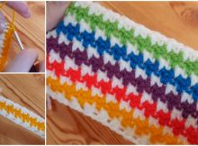 Crochet Houndstooth Stitch Ideal For Blankets