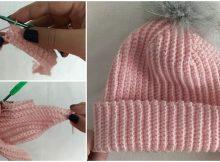 Woman's Beautiful Hat With Pom Pom