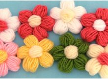 3D Puff Flowers Ideal For Blankets