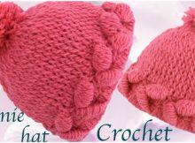 Crochet Beautiful Beanie Hat 3D Tulips