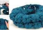 Crochet Puff Stitch Scarf