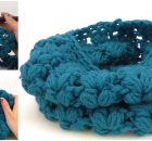 Crochet Puff Stitch Scarf