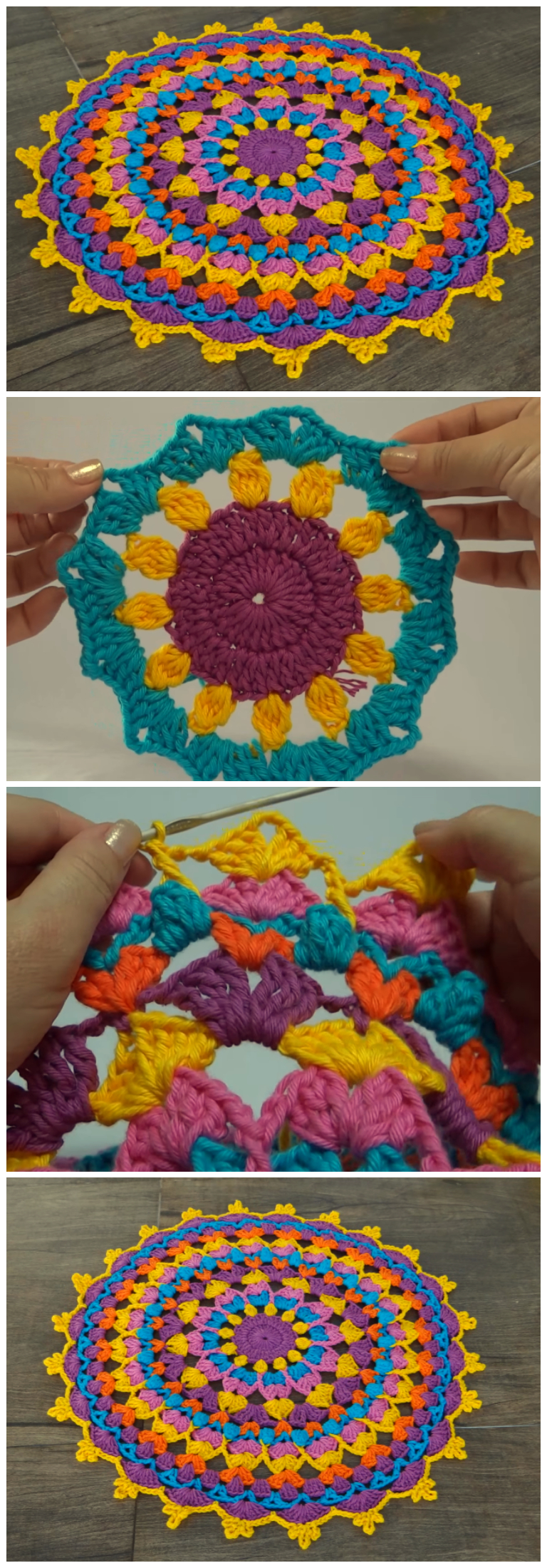 How To Crochet Beautiful Mandala