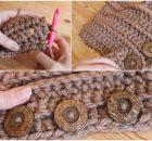 Knit Stitch Scarf Cowl