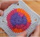 Solid Circle Granny Square
