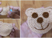 Teddy Bear Face Applique