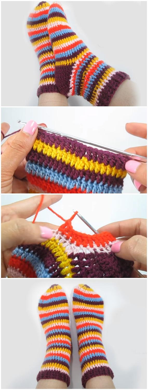 Crochet Adult Size Beautiful Socks