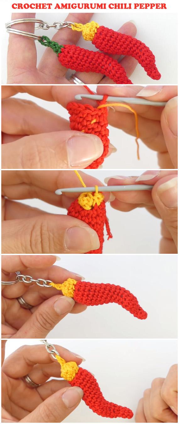 Crochet Amigurumi Lucky Chili Pepper