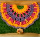 Purse With Colorful Flower