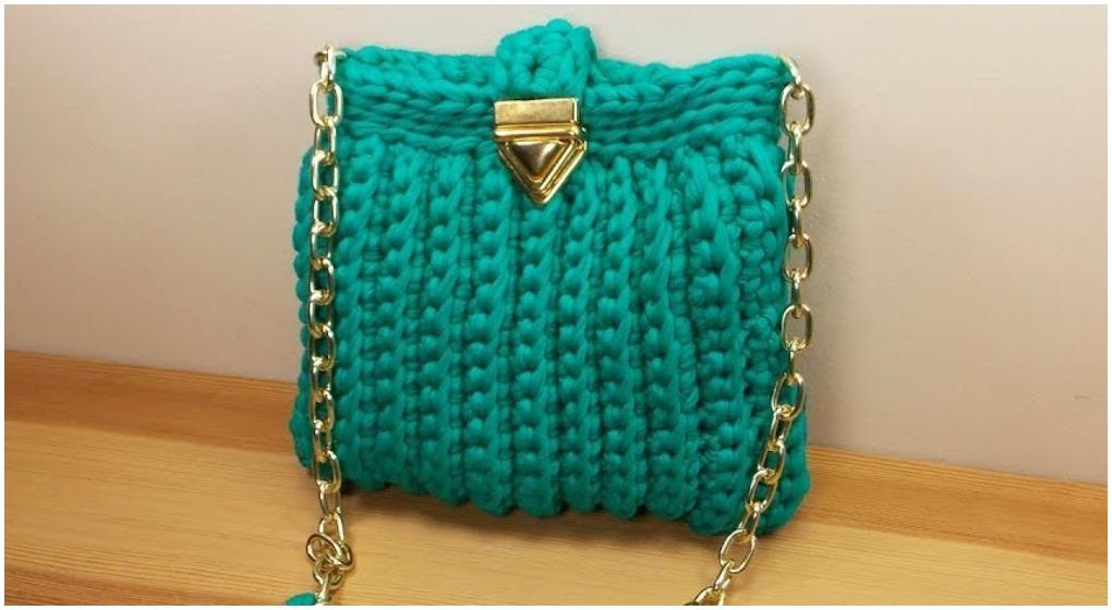 crochet beautiful t-shirt yarn bag