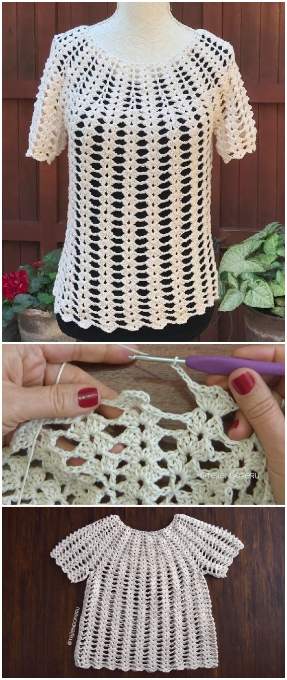 Easy Crochet Blouse Patterns Best Blouse Design 2018