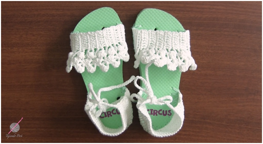 Crochet Slippers With Flip Flop Soles Free Pattern Video Ilove