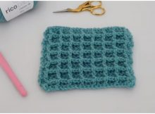 The Waffle Stitch For Baby Blankets