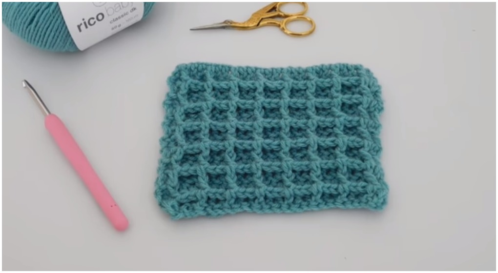 How To Crochet The Waffle Stitch For Baby Blankets Ilove