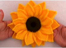 3D Sunflower Tunisian Stitch