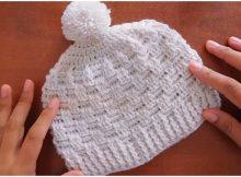 Beanie Hat Basket Weave Stitch