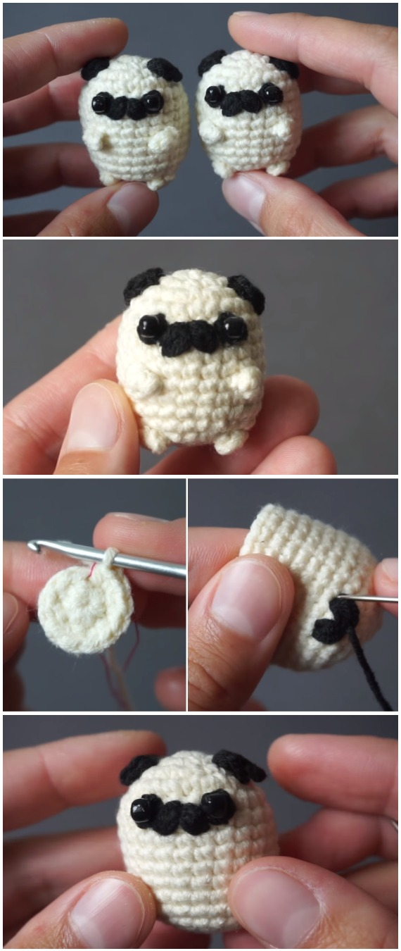 Baby Pug Dog amigurumi pattern - Amigurumi Today | 1350x570
