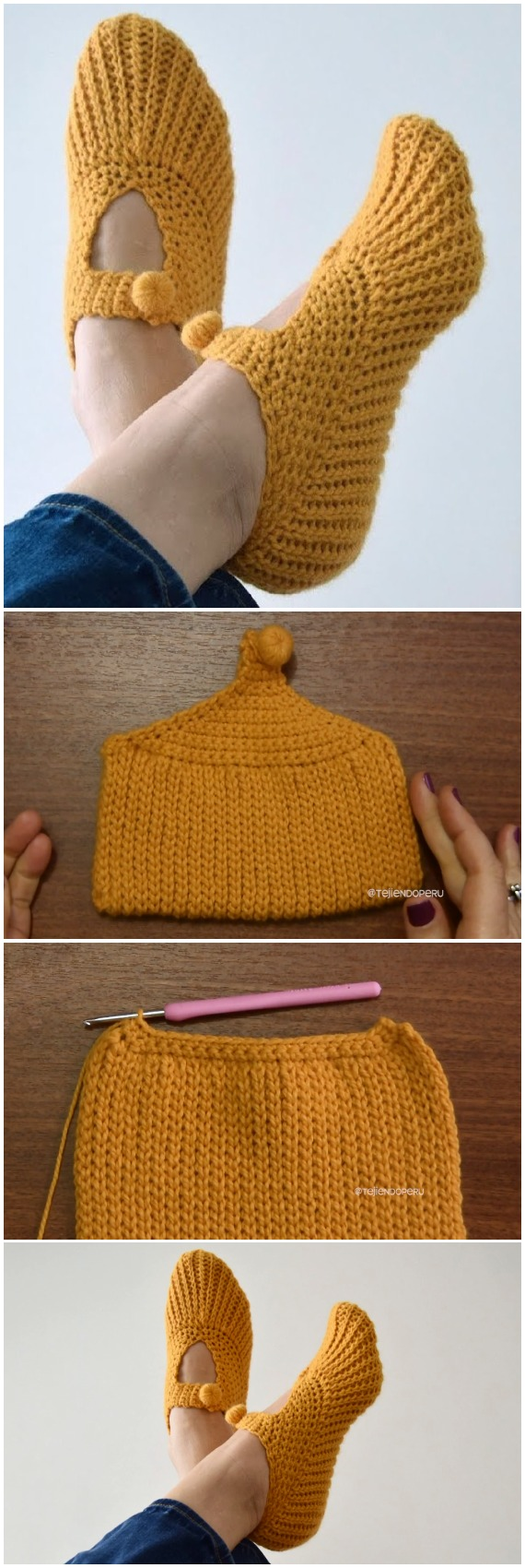 Crochet Pocketbook Slippers