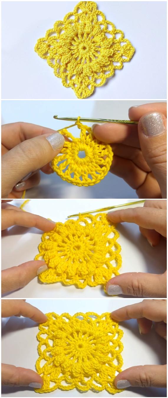 Crochet Granny Square Motif