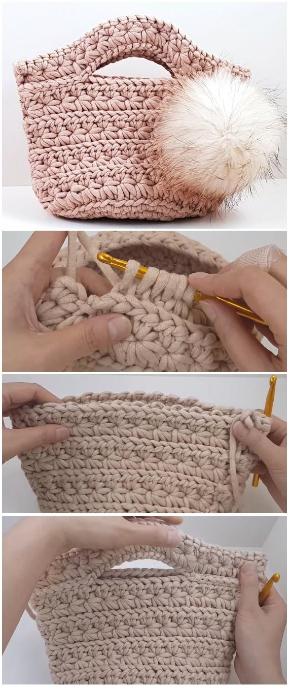 Crochet Handbag Jasmine Stitch