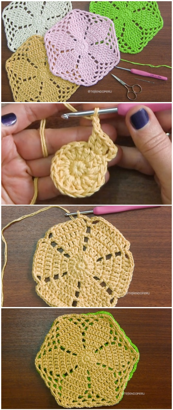 Crochet Big Grannies With A Daisy Flower