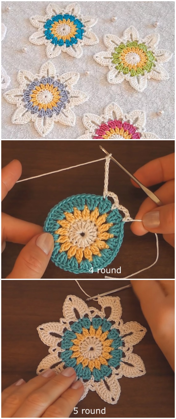 Crochet Easy Flower Motif