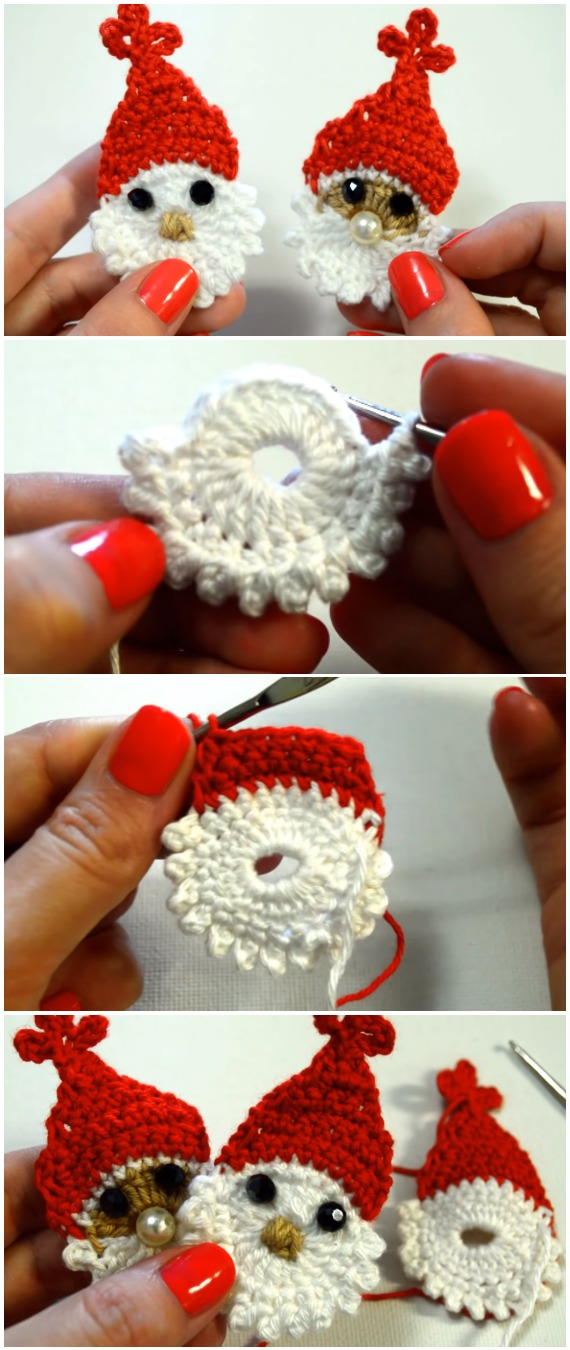Crochet Santa Applique