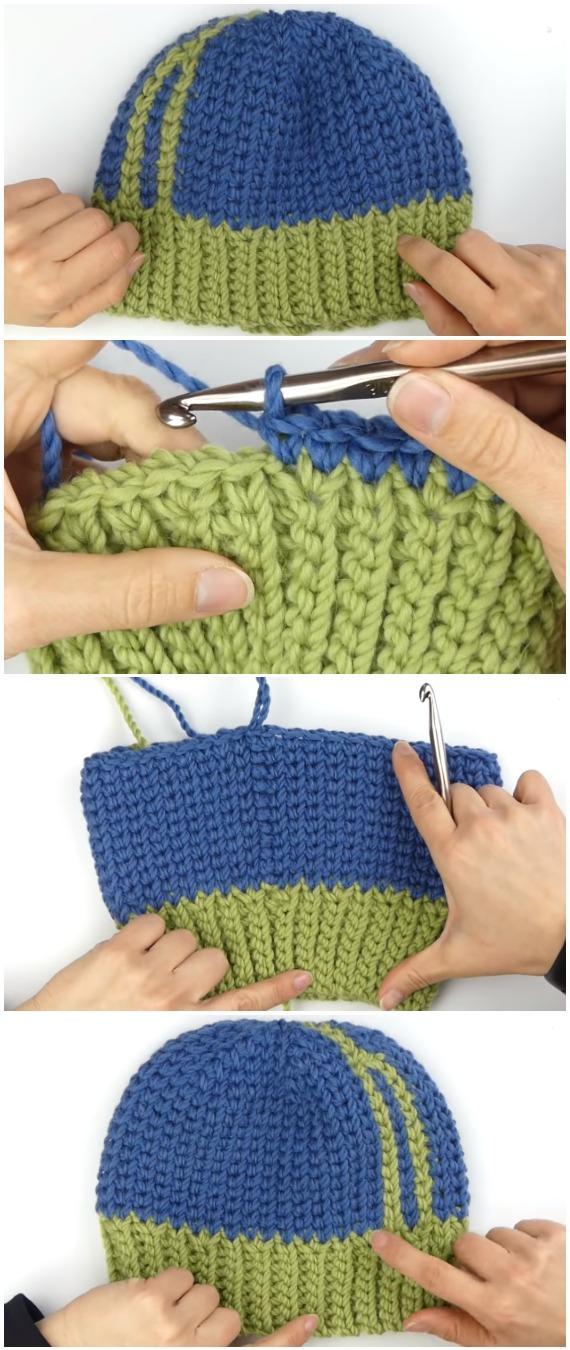 Crochet Beautiful Beanie Stockinette Stitch