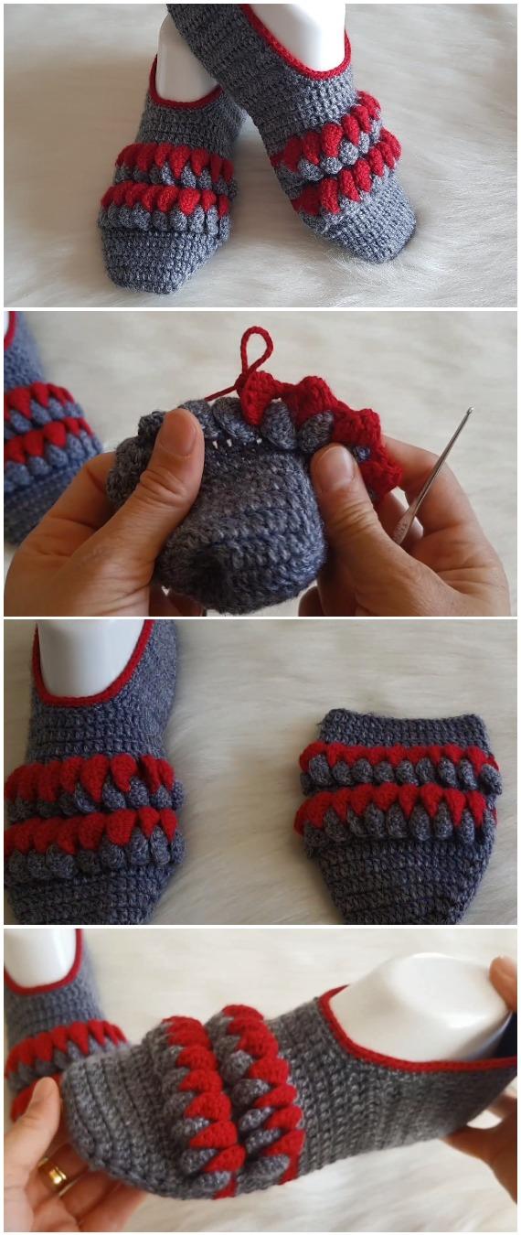 Crochet Beautiful Patterned Booties