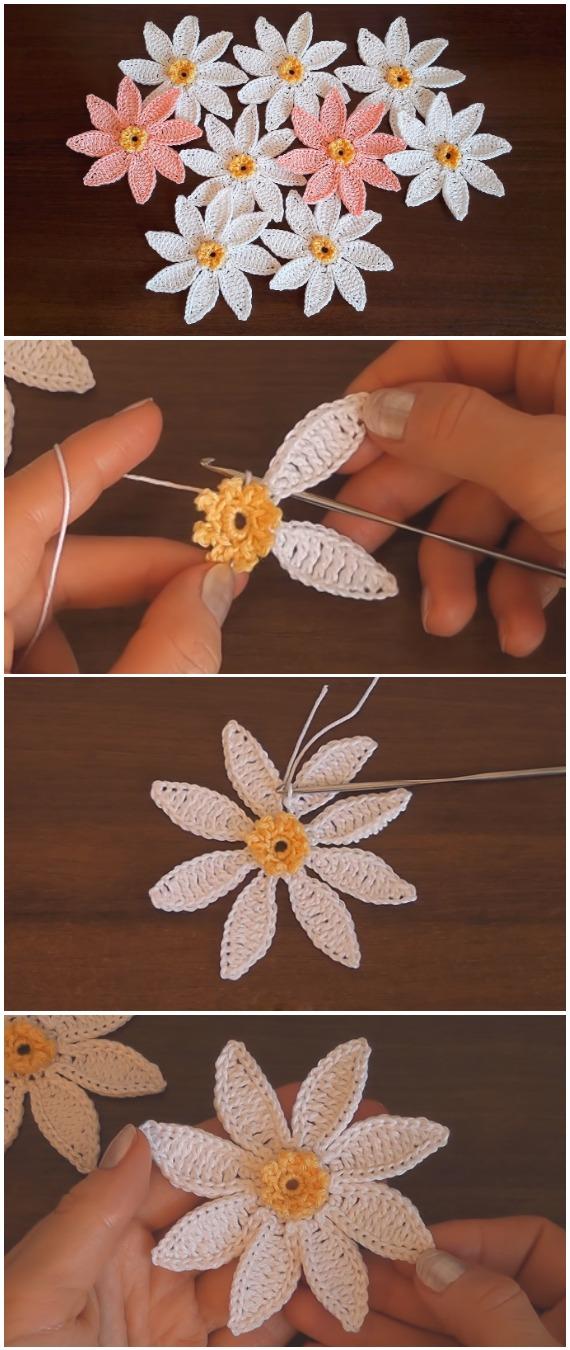 Crochet Pretty Easy Flowers