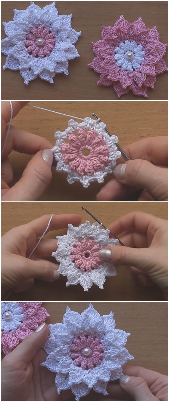 Crochet Very Easy Flowers