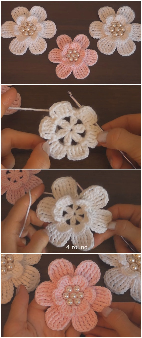 Learn To Crochet Easy Flowers