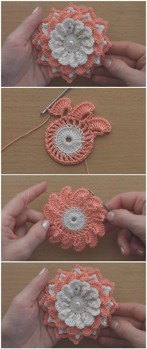 Learn To Crochet Easy Gorgeous Flower
