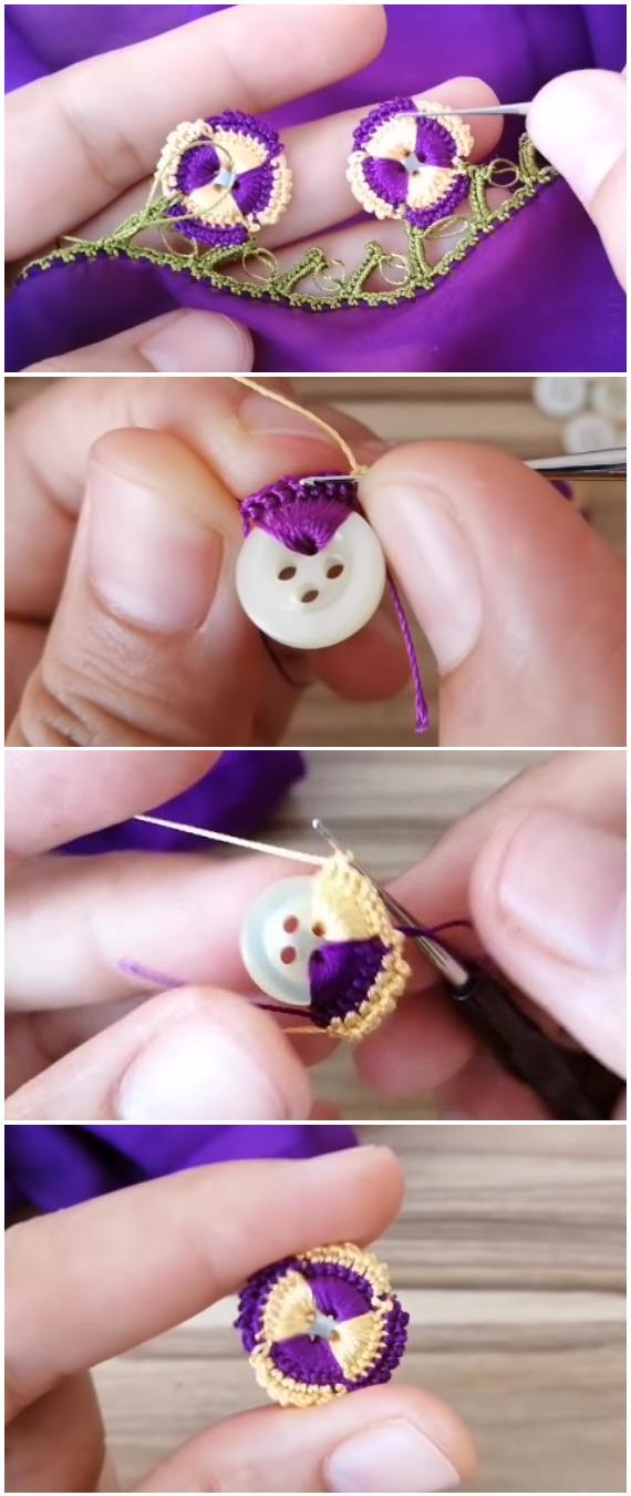 Crochet Easy Beautiful Buttons