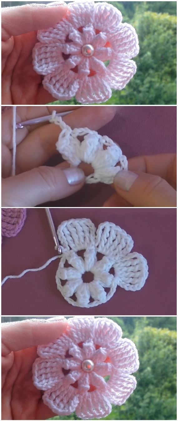 Crochet Easy Beautiful Flowers