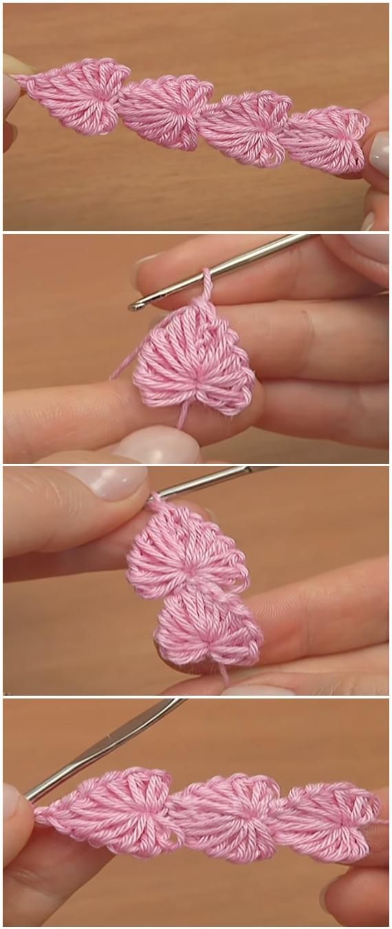 Crochet Easy Hearts Cord