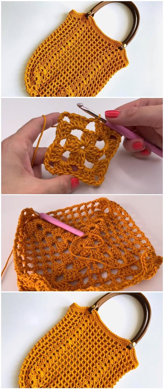 Crochet Granny Market Bag