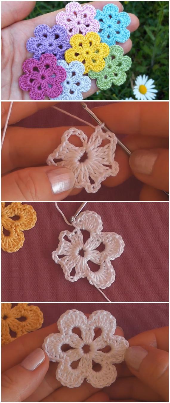 Simple Crochet Beautiful Flowers