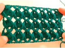 Crochet Rhombus Stitch