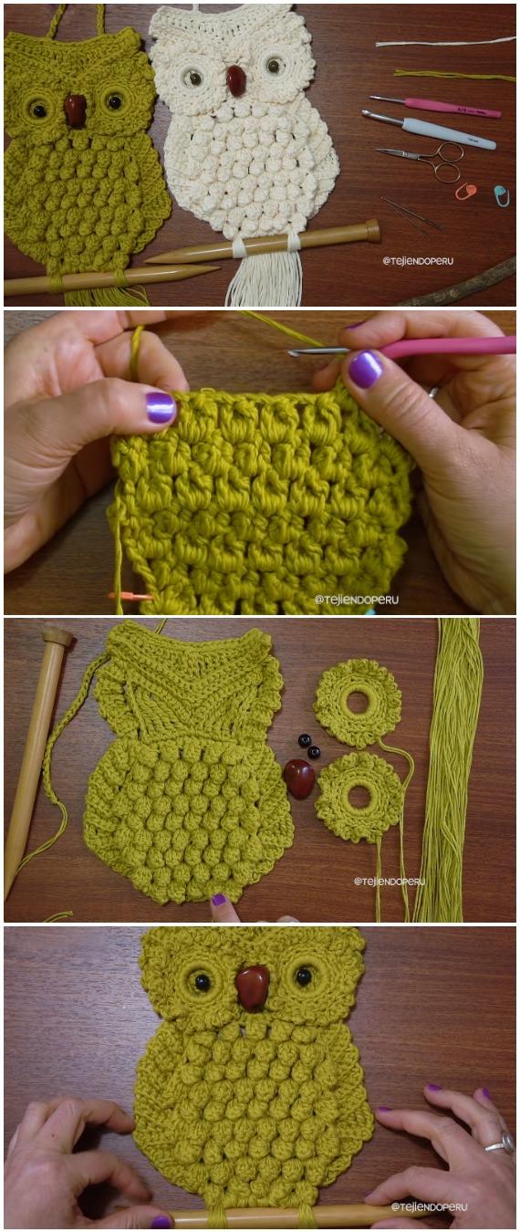 Crochet Easy Macrame Owl