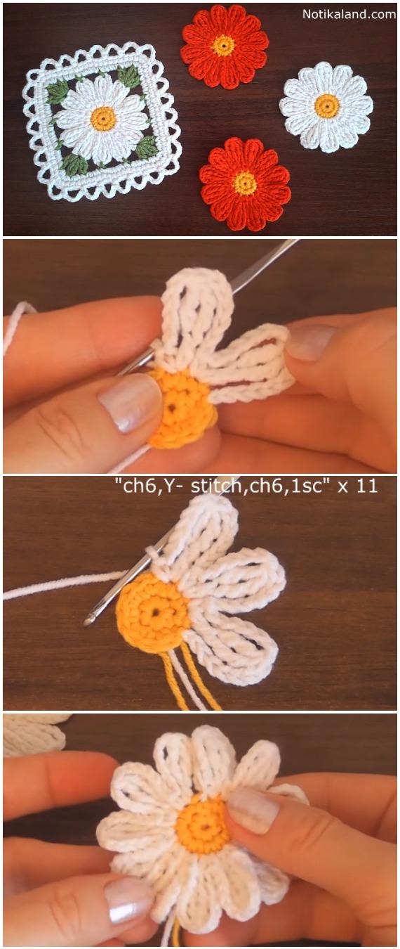Crochet Easy Motif Flowers