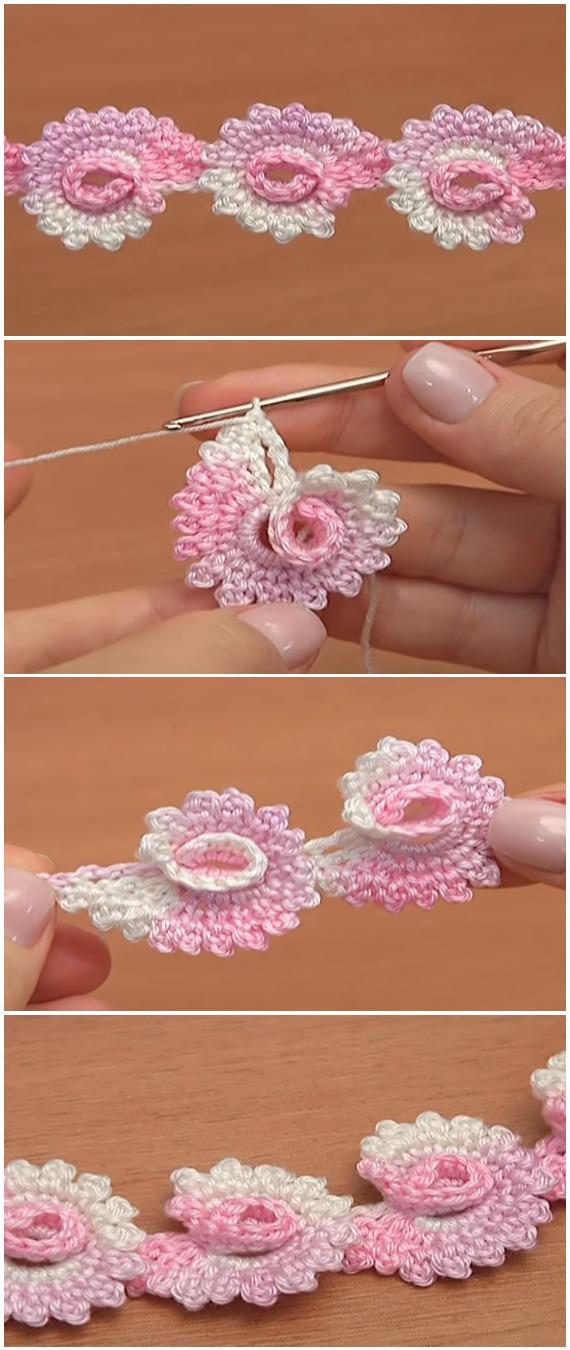 Crochet Easy Spiral Motif Cord