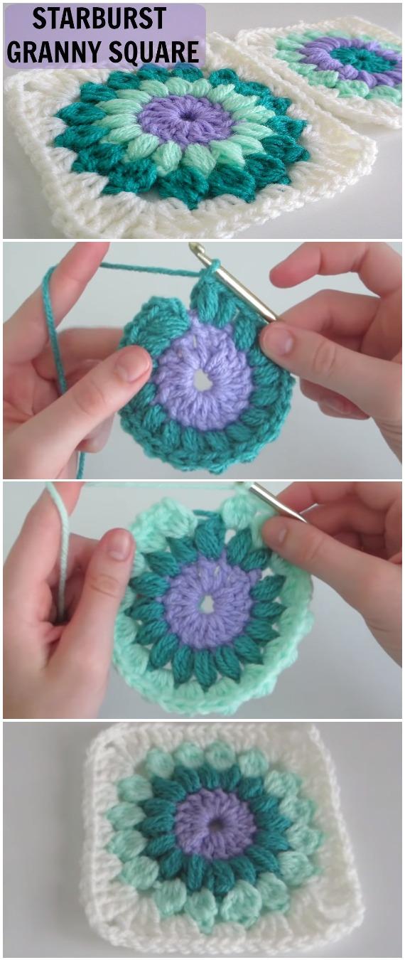 Crochet Easy Starburst Granny Square